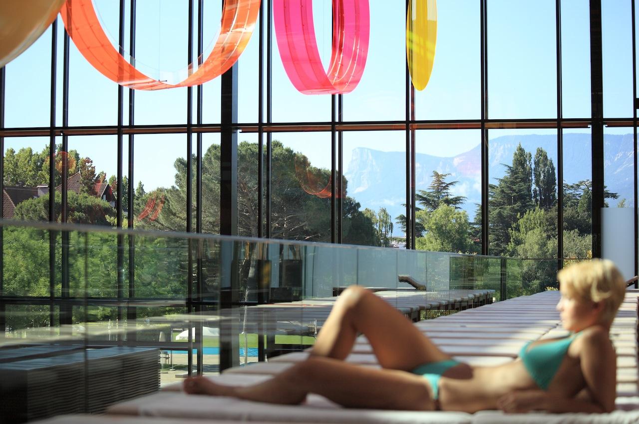 Aussicht Badehalle auf die schöne Umgebung / © Manuela Prossliner
