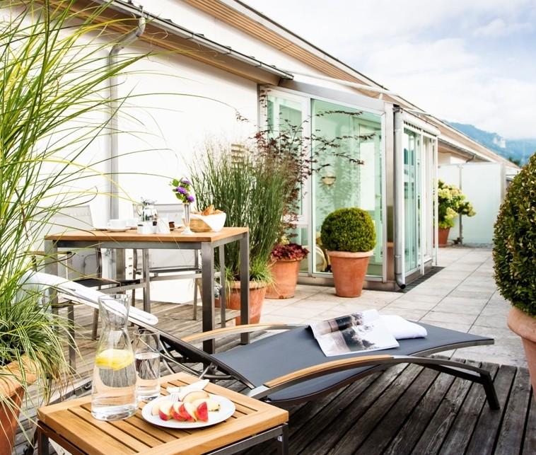 Dachterrasse Maisonette Suite / © Althoff Seehotel Überfahrt