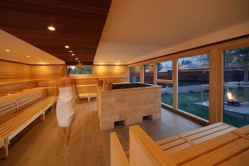 Innenansicht finnische Sauna / © Christian Gufler