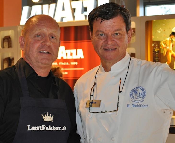3-Sterne-Koch Harald Wohlfahrt mit Herausgeber des LUXUS & LIFESTYLE MAGAZIN FrontRowSociety.net Andreas Conrad