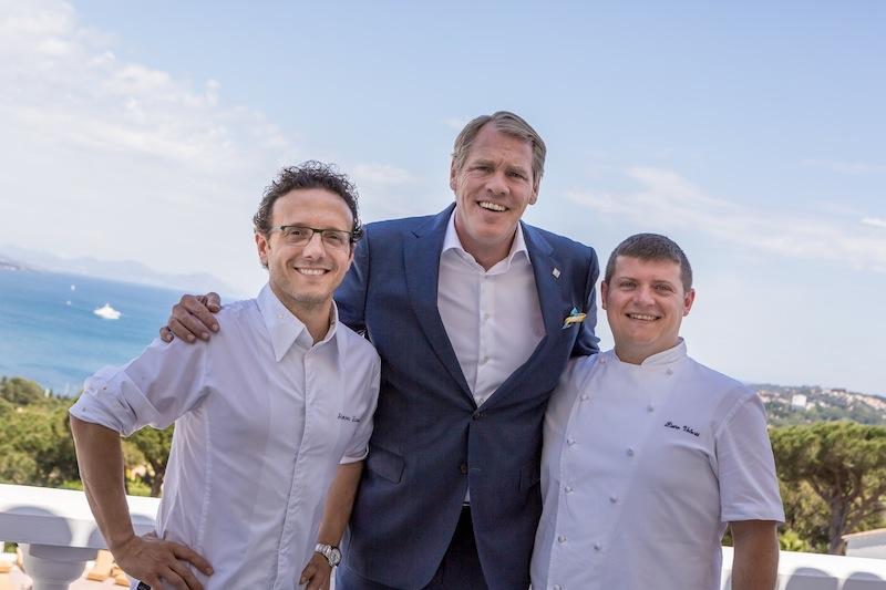 Von Links: Küchenchef Pietro Volontè, Genaral Manager Robert van Straaten und Sternekoch Simon Zanoni