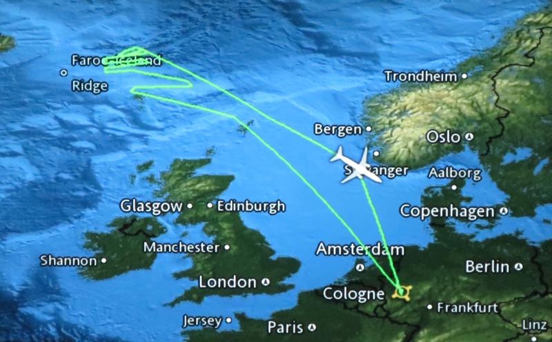 Der mögliche Flugverlauf in der Nacht des Polarlichtflugs