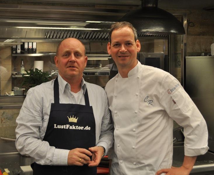 Chef de Cuisine Christoph Rüffer und Andreas Conrad, Herausgeber des Luxus & Lifestyle Magazin FrontRowSociety.net / © Redaktion FrontRowSociety.net