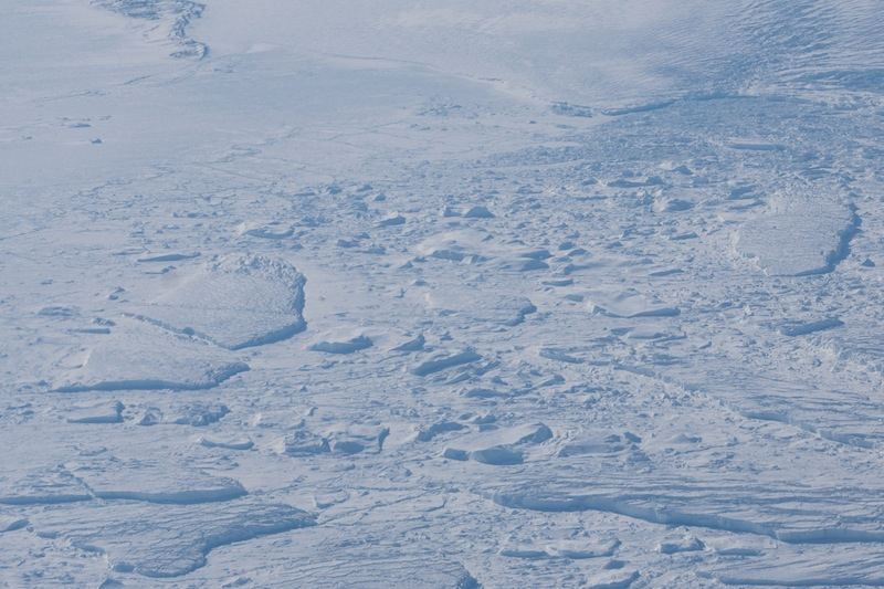 Kein Wasser mehr in Sicht. Die Kälte schlägt zu. Eis soweit das Auge reicht / © Redaktion FrontRowSociety.net, Foto Patrick Becker