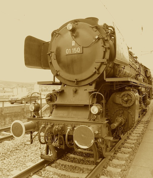 Die Lok 01 150 von 1935 war die Attraktion für viele Schaulustige an der Bahnstrecke / © Redaktion FrontRowSociety.net