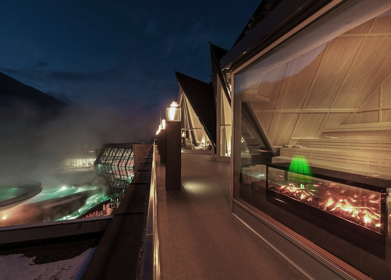 Hier ist es richtig heiß - an der rechten Seite ist die Bergfeuer zu sehen © Aqua Dome