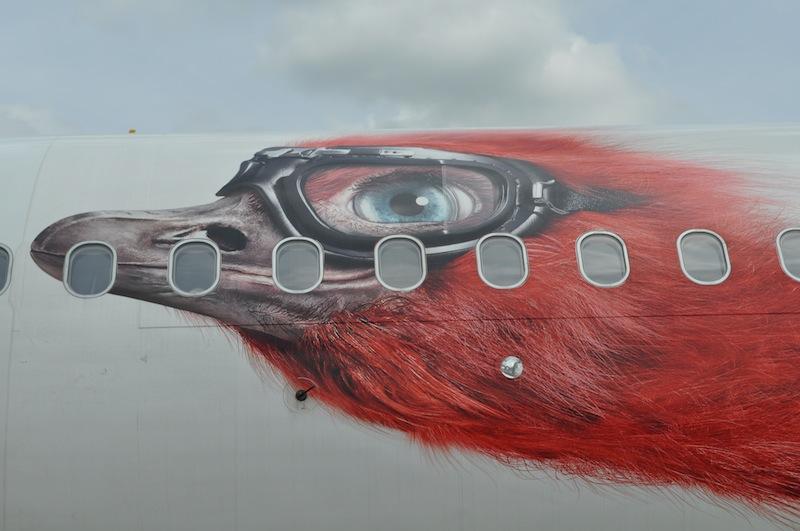 Hier die Milo-Sonderlackierung - dem Top Bonus Maskottchen von airberlin / © Redaktion FrontRowSociety.net