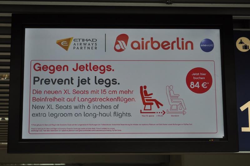 Die neuen XL Seats in der airberlin Maschinen. Höherer Sitzkomfort und Beinfreiheit stehen hier im Vordergrund / © Redaktion FrontRowSociety.net