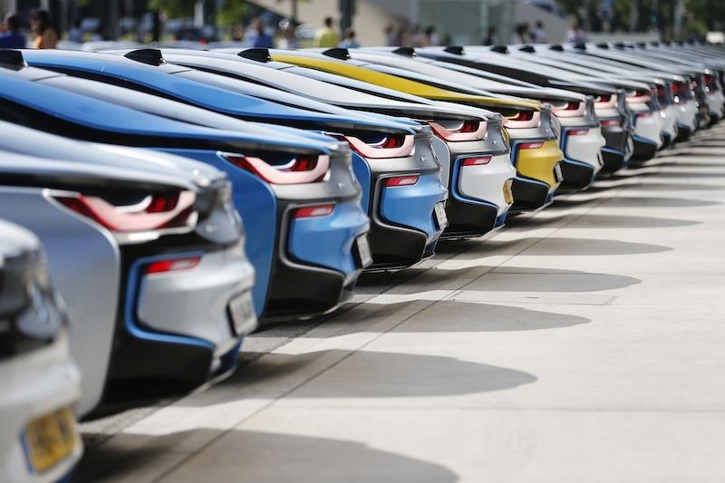 Die Farbenvielfalt ist begrenzt. Aber alle Farben passen zum BMW i8 / © BMW AG, München