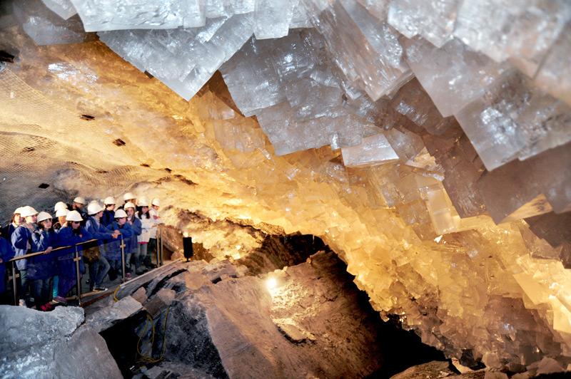 Hier ist der wahre Schatz von Merkers in der 1980 gefunden Kristallgrotte zu bestaunen / © K+S Aktiengesellschaft