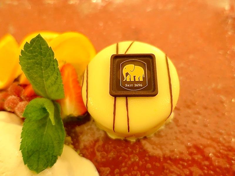 Das süße Dessert im Elephantenkeller - die Elephanten-Schokolade / © Redaktion FrontRowSociety.net