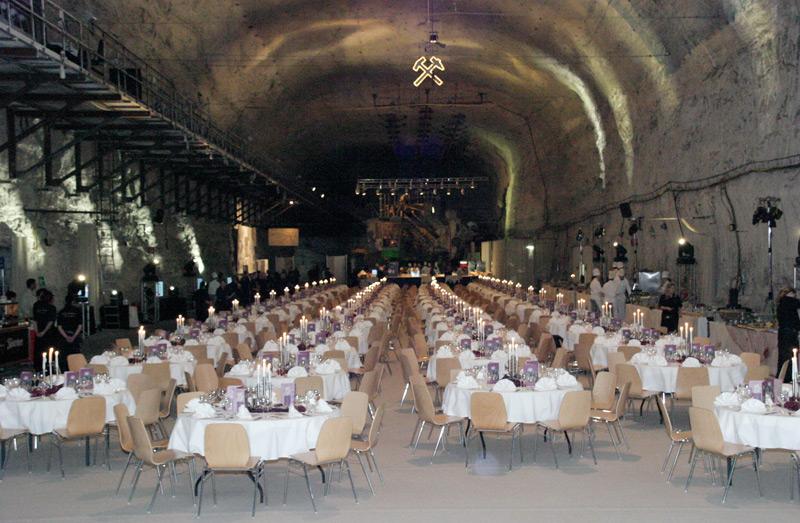 Großbunker - Konzerthalle - Jazzkeller - noble Speiselokalität - der Ideen sind im Großbunker im Erlebnis Bergwerk Merkers keine Grenzen gesetzt / © K+S Aktiengesellschaft