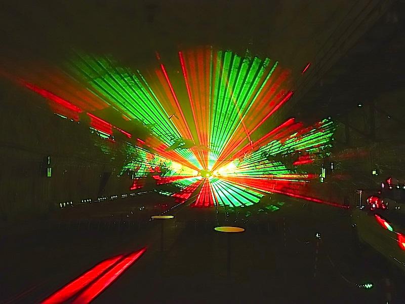 Die Lasershow im Großbunker des Erlebnis Bergwerk Merkers - schade das man den Sound und das fantastische Klangbild hier nicht hören kann / © Redaktion FrontRowSociety.net