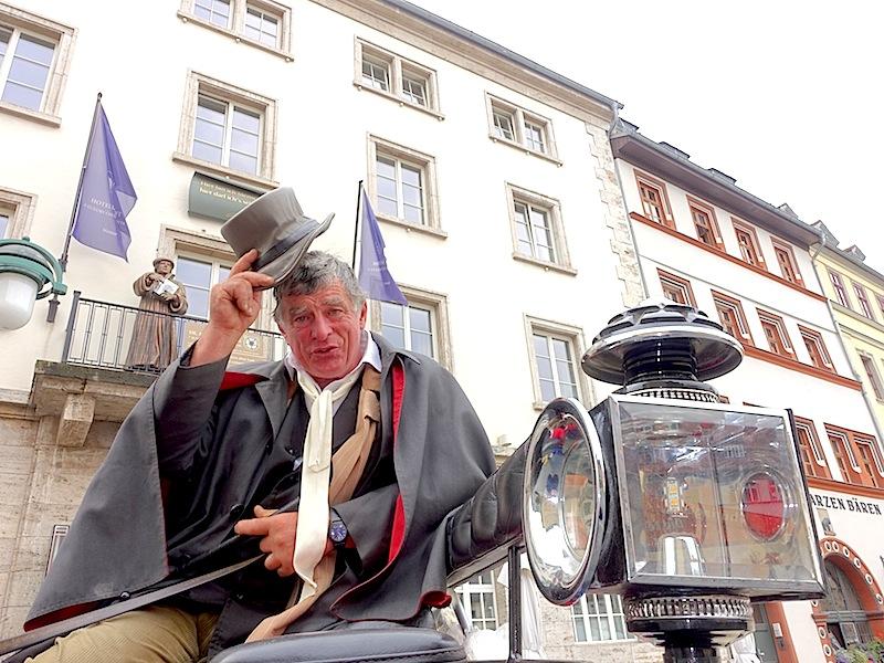 Kutscher Gunter Grobe ist in ganz Weimar und über die Grenzen hinaus bekannt / © Redaktion FrontRowSociety.net