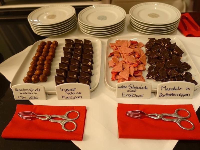 Die süße Versuchung an diesem Abend kam in Form von feiner Schokolade daher / © Redaktion FrontRowSociety.net