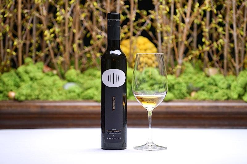 Das Südtiroler Weindorf Tramin ist für seine erlesenen Gewürztraminer bekannt. Heute wurde eine 2012 Gewürtraminer Spätlese Treminum v.t. gereicht
