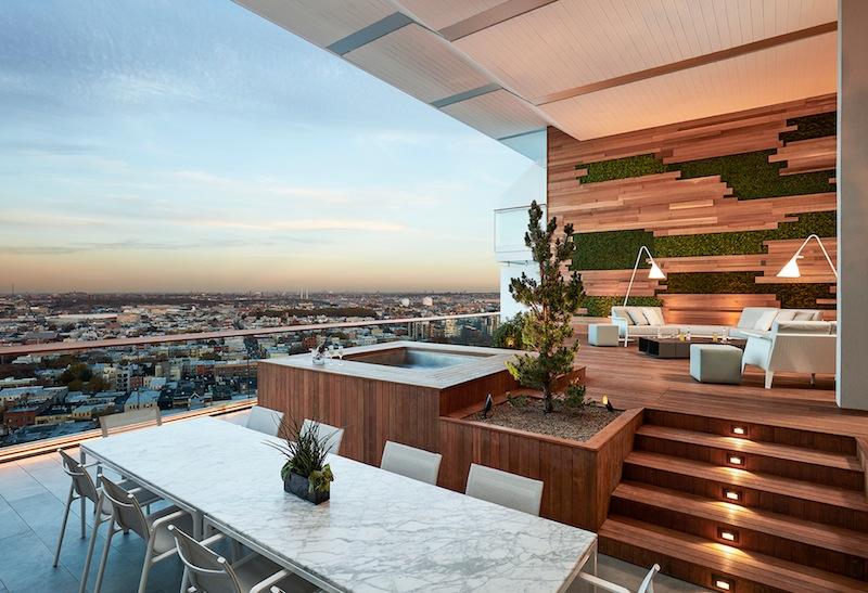 Die private Terrasse, natürlich mitWhirlpool inklusive
