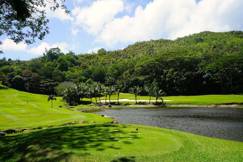 Geschützt vor der Sonne lässt sich auf der Anlage von Lemuria erstklassig Golf spielen