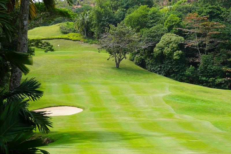 Jede Stelle des Golfplatzes hat ihren eigenen Reiz