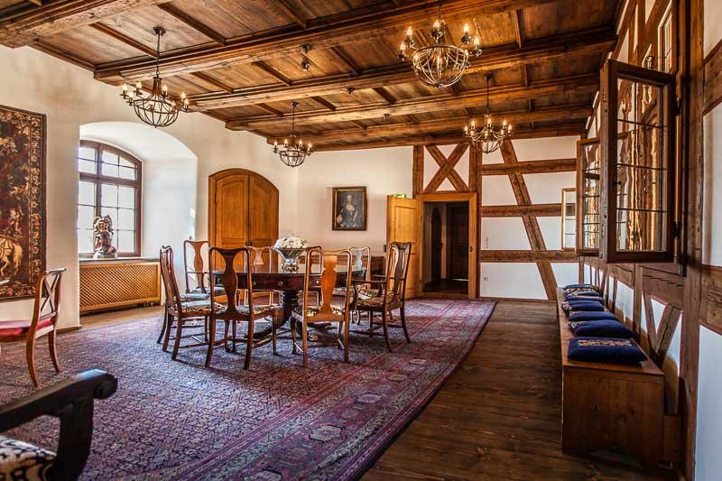 Das Trauzimmer auf Burg Wernberg. Stilvolle und märchenhafte Kulisse zugleich
