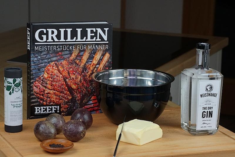 Auch die im Buch beschriebene Gin-Butter haben wir ausprobiert