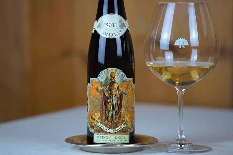Weingut Knoll: Der 2011 Gelber Traminer Smaragd harmonierte ausnahmlos gut zur Kürbissuppe