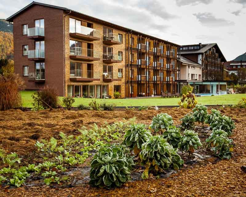 Direkt hinter dem Romantik-Hotel liegt der Demeter-Garten, aus dem das frische Gemüse kommt
