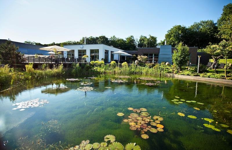 """Der wunderschöne Naturbadesee. Hier machen Wechselbäder Spaß. Nach dem Motto von Sebastian Kneipp: Ein Zitat von ihm: """"Im Wasser liegt Heil; es ist das einfachste, wohlfeilste und – recht angewandt – das sicherste Heilmittel."""" / © Wellneuss"""