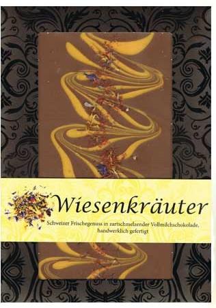 """Design-Schokolade von Kunder in der Geschmacksrichtung """"Wiesenkräuter"""""""
