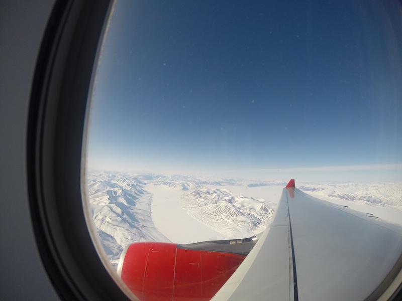 Schnell Mal die GOPRO rausgeholt und abgedrückt: Im Sinkflug auf Grönland / © Redaktion Lustfaktor