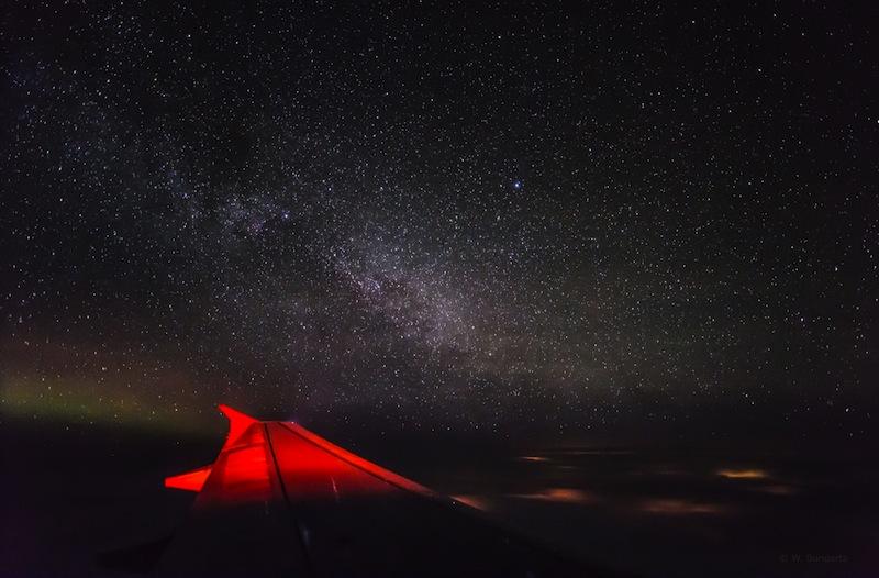 Die Milchstrasse - ein atemberaubender klarer Blick in 11 Kilometern Höhe / © Wilfried Bongartz