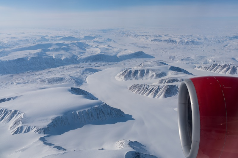 Hier noch ein schönes Foto, was die ungeheuren Schnee- und Eismassen zeigt von Grönland zeigt / © Redaktion Lustfaktor, Foto Patrick Becker