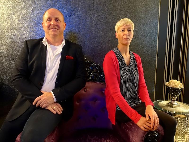 Inhaberin des Humboldt1 Palais-Hotel Anja Schreiber und Andreas Conrad, Herausgeber vom Luxus & Lifestyle Magazin LUSTFAKTOR / © Redaktion Lustfaktor