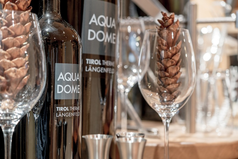 Das Hotel hält u.a. eine vorzügliche Auswahl an Weinen aus Österreich bereit / © Aqua Dome