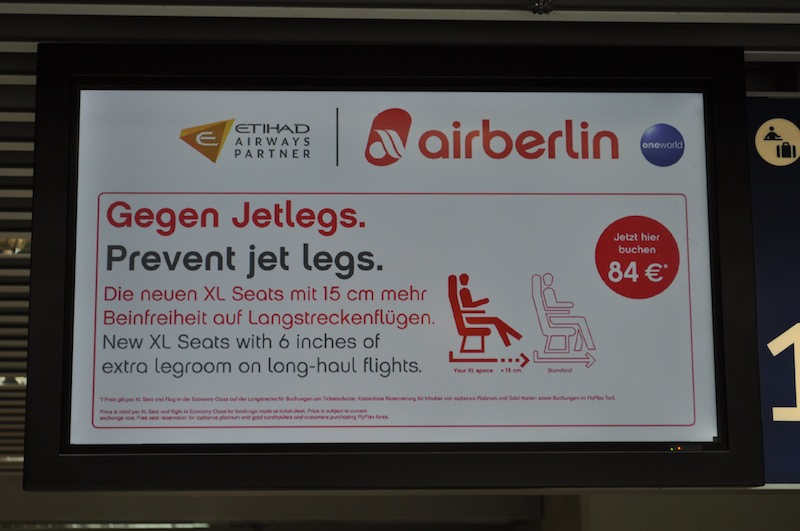 Die neuen XL Seats in der airberlin Maschinen. Höherer Sitzkomfort und Beinfreiheit stehen hier im Vordergrund / © Redaktion Lustfaktor
