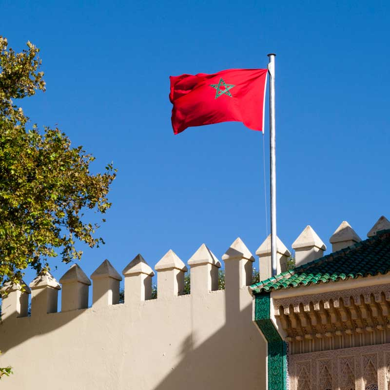Bis zur Einrichtung des französischen Protektorats im Jahre 1912 wurde Marokko von hier aus regiert. Französischer Einfluss / © Lustfaktor, Foto Georg Berg