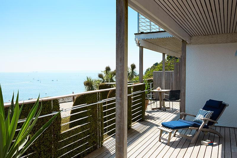 Die Terrasse der Familien-Suite in Upper Tresanton / © Tresanton Hotel