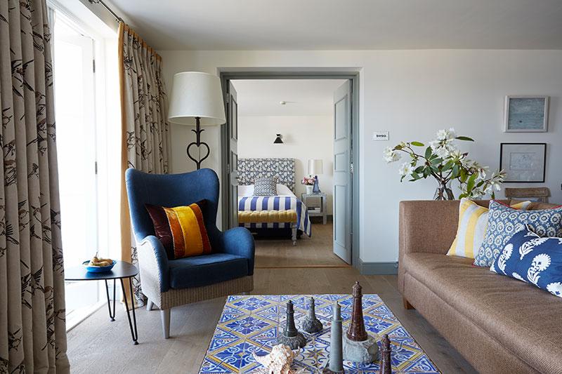 Maritimer Flair der besonderen Art: Familien-Suite in Upper Tresanton / © Tresanton Hotel