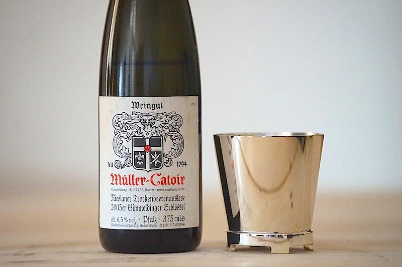 Eine fantastische Trockenbeerenauslese vom Weingut Müller-Catoir: Der 2005er Gimmeldinger Schlössel