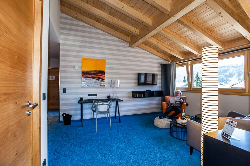 Eine Suite für vier Personen hat zwei Schlafzimmer und ist sogar mit einem eigenen Aufzug zu erreichen