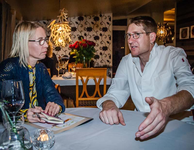 Nach dem Menü im Maximilans: Tobias Eisele im Gespräch mit Lustfaktor-Autorin Angela Berg