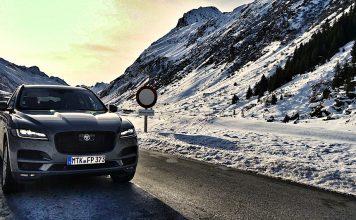 Der SUV Jaguar F-Pace in seinem Element - Berge, Schnee und jede Menge schöne Momente
