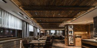 Innenansicht des 3 Hauben Restaurant Stüva im Yscla