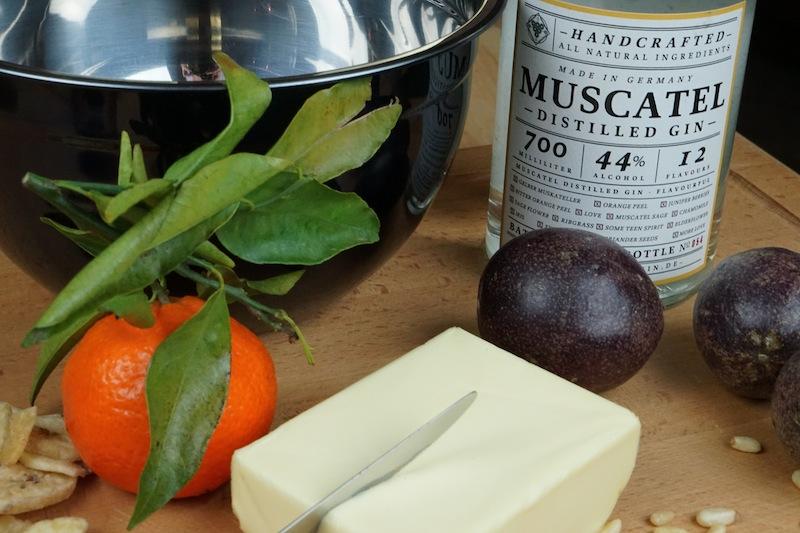 Mit dem Muscatel Gin haben wir auch eine gute Gin Butter kreieren können