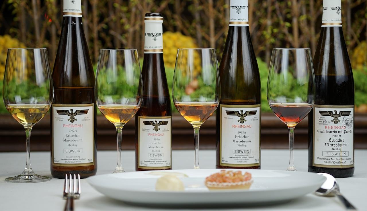 Eine Auswahl der Eisweinkollektion des Koster Eberbach