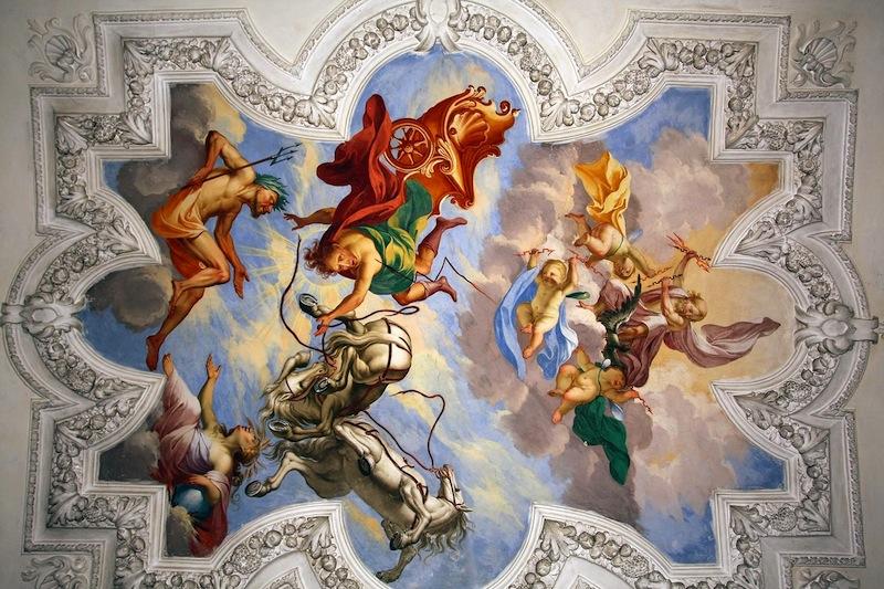 Hier zu sehen - ein Fresco im Castell di Monteu Roero. Schöner konnte es auch am Hofe der Grafen von Savoyen nicht sein, als in diesem 900 Jahre alten Castell, welches heute ein Museum der Famile Berta beherbergt