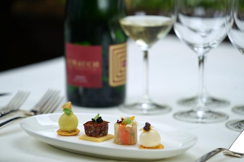 Die kulinarische Einstimmung von Spitzenkoch Christoph Rainer war eine wirklich Punktlandung... ausnahmslos harmonierend