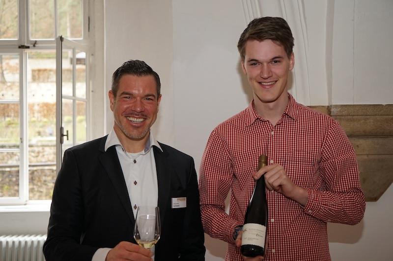 Die Hessischen Staatsweingüter Kloster Eberbach hatten - mit Alexander Schwed (li.) - an diesem Mittag ein Heimspiel