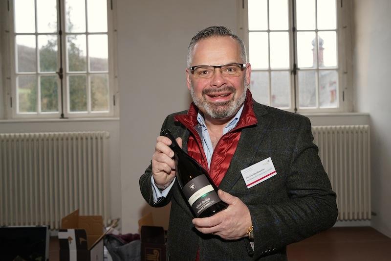 Markus Nussbaumer vetreibt unter anderem Wein aus der Kellerei Bozen