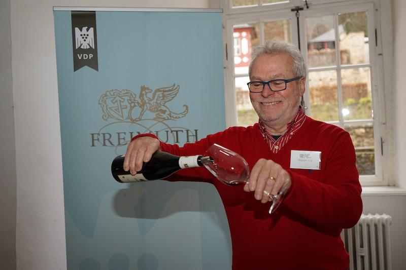 Das Weingut Freimuth aus Geißenheim ließ großartige Rieslinge verkosten